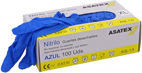 Heute im Angebot: Einweghandschuh ENHU-24 von ASATEX / Farbe: blau
