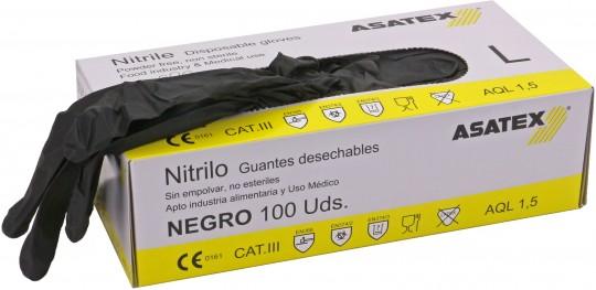 Heute im Angebot: Einweghandschuh ENHU-24 von ASATEX / Farbe: schwar jetzt günstig kaufen