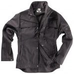 Bundjacke INFLAME Black Edition von BEB / Farbe: Cross black/Schwarz / 65% Polyester, 35% Baumwolle, 245 g/m², Denim Look